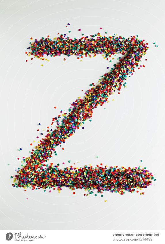 Z wie: DesignZorro Art Work of art Esthetic Letters (alphabet) Typography Creativity Design studio Design museum Confetti Multicoloured Many Point Fashioned