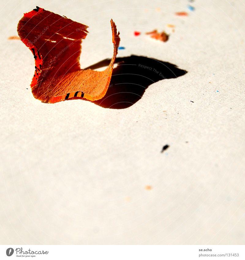 instigation Snippets Escalope Remainder Pen Crayon Sharpened Art Obscure spur Orange planed down Creativity
