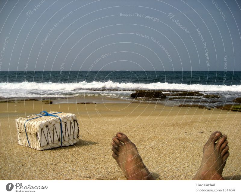 wake-up Present 4 U! Gift Beach Stranded Ocean Waves Toes Surprise Wake up Coast Feet foots present onda wave Sand Barefoot