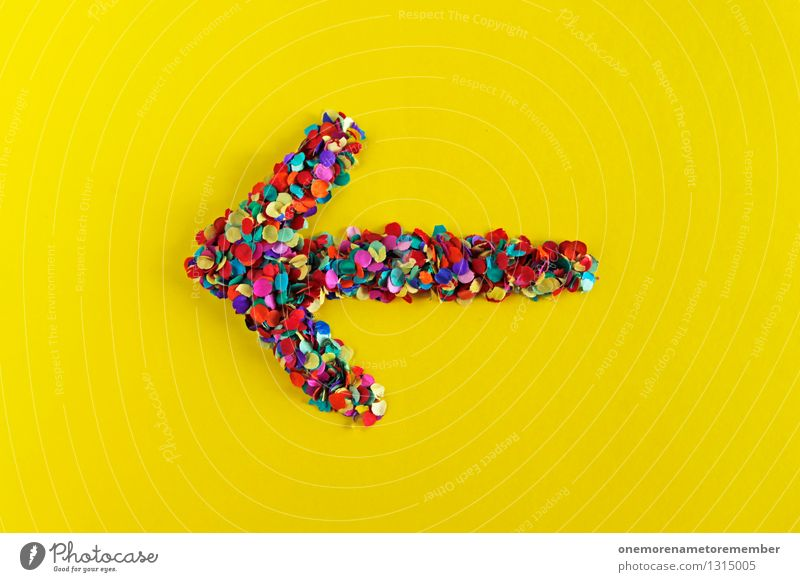 Yellow Art Design Esthetic Creativity Many Arrow Direction Clue Work of art Confetti Gaudy Left Trend-setting Home-made Change in direction