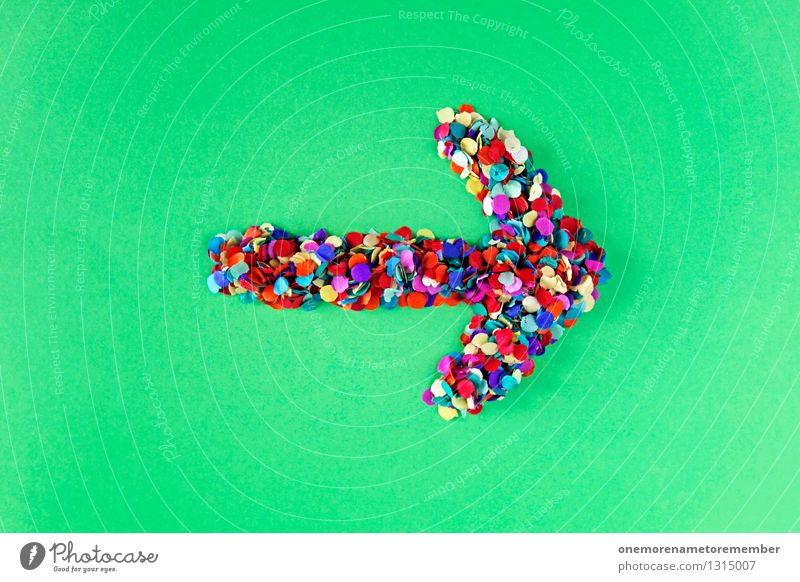 ...then right Art Work of art Esthetic Arrow Confetti Creativity Idea Right Direction Trend-setting Change in direction Green Design Design studio Design museum