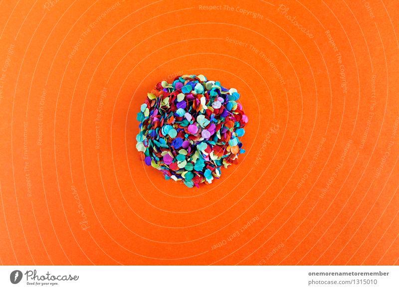 ... passing by this big round Art Work of art Esthetic Contentment Confetti Circle Circular Many Creativity Design Design studio Design museum Sphere Red Orange