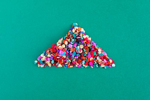 ... and there by the house Art Work of art Esthetic Triangle Confetti Many Point Creativity Design Design studio Design museum House (Residential Structure)