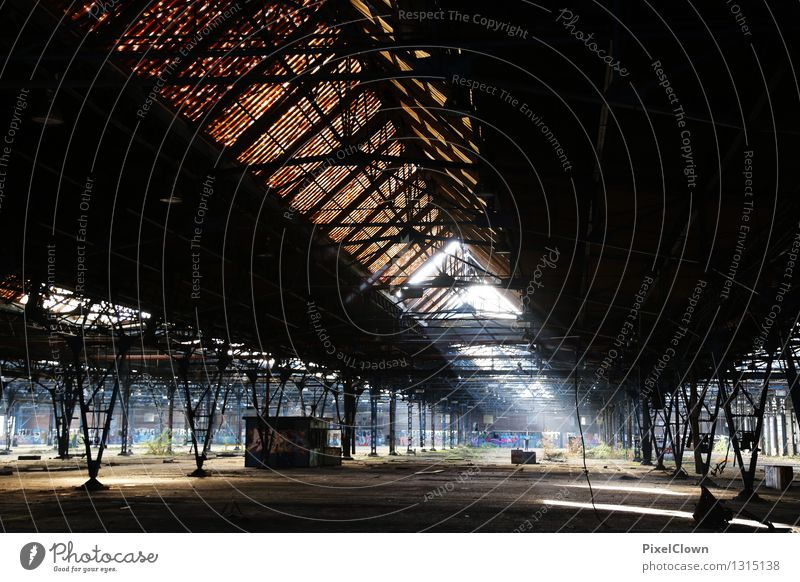 industrial architecture Construction site Industry Work of art Industrial plant Factory Manmade structures Building Architecture Rail transport Railroad