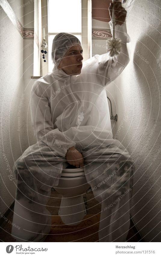 White Joy Crazy Sit Clean Pure Toilet Suit Testing & Control Investigate Brush Bacterium Toilet brush