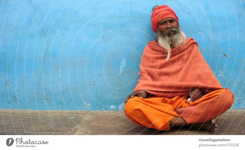Wall (building) Wall (barrier) Concrete Facial hair India Holy Turban