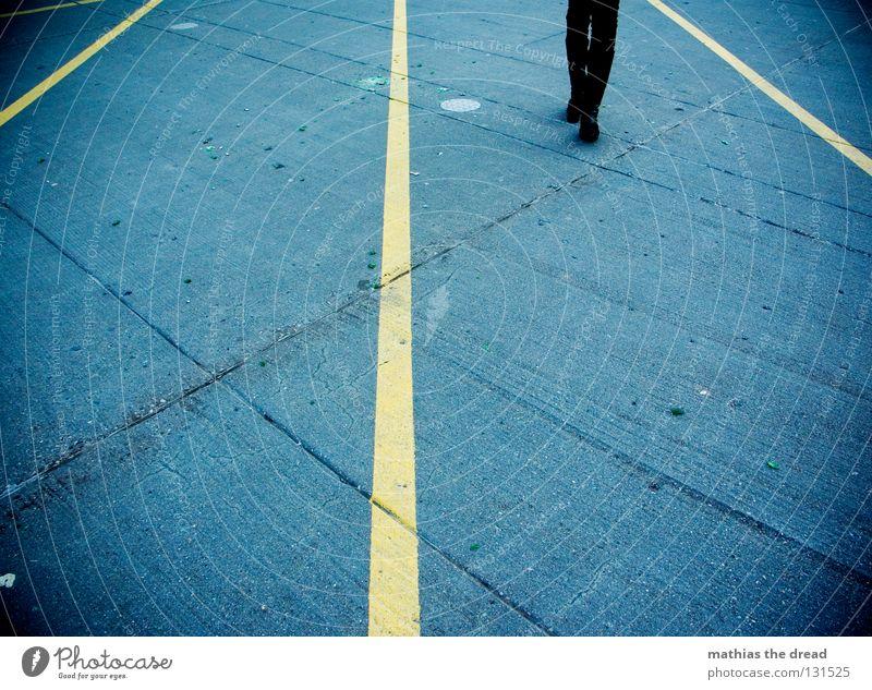 Blue White Black Yellow Street Lanes & trails Gray Stone Legs Line Feet Bright Lighting Footwear Dirty Wait