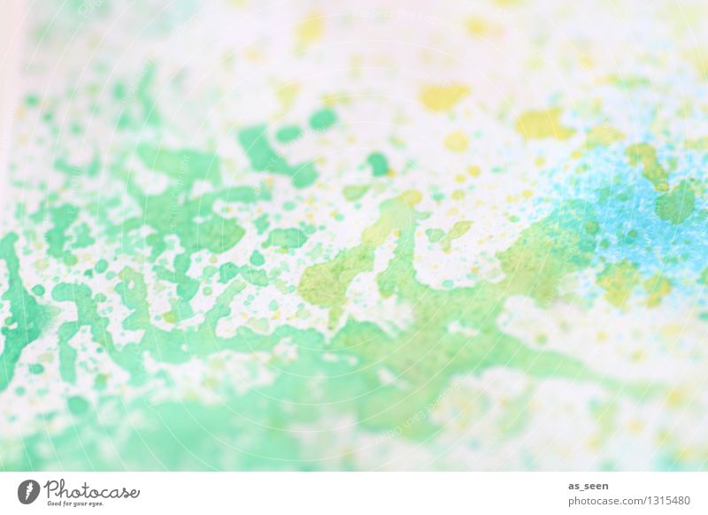 Blue Green Colour Summer White Yellow Life Art Bright Design Leisure and hobbies Modern Happiness Creativity Paper Painting (action, artwork)