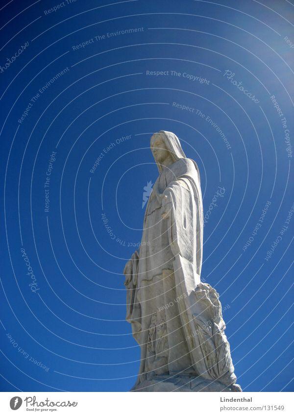 Sky Blue Religion and faith Statue Monument Historic Holy God Deities Virgin Mary