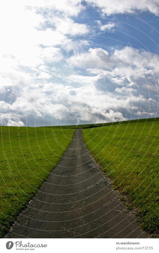 Sky Street Meadow Mountain Lanes & trails Field Horizon