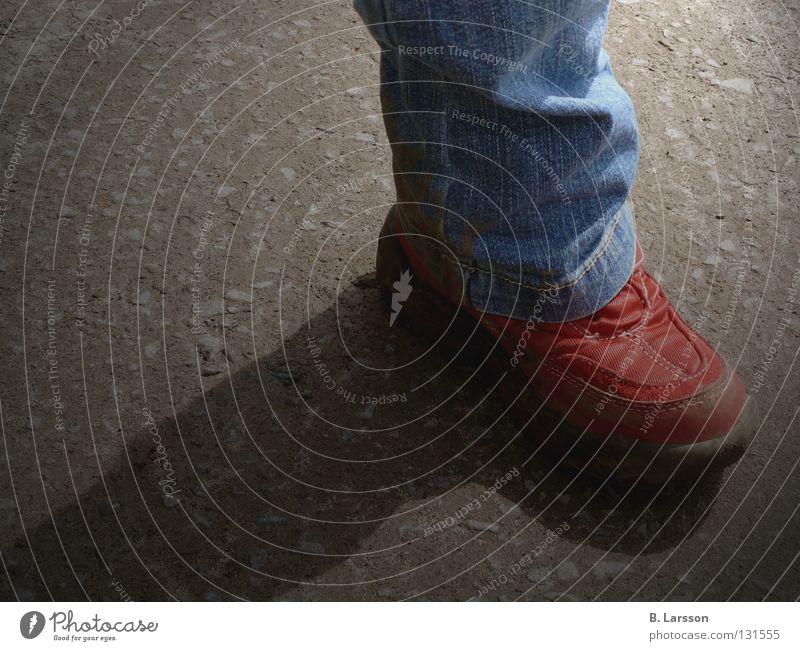 Child Blue Red Street Playing Gray Feet Lanes & trails Footwear Legs Small Walking Jeans Asphalt Pants