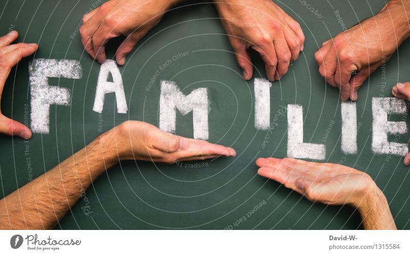 many hands form the word family with letters Family & Relations Word shape Attachment Together Love in common fellowship Build Planning planning