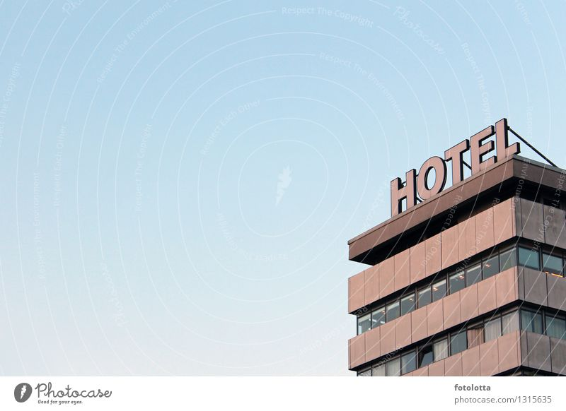 HOTEL Building Hotel Facade Window Blue Brown Gray Orange Vacation & Travel Business trip Hotel room Sleep overnight Living or residing