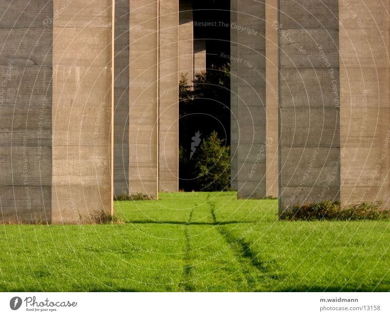 Tree Meadow Lanes & trails Field Concrete Bridge Tracks Column