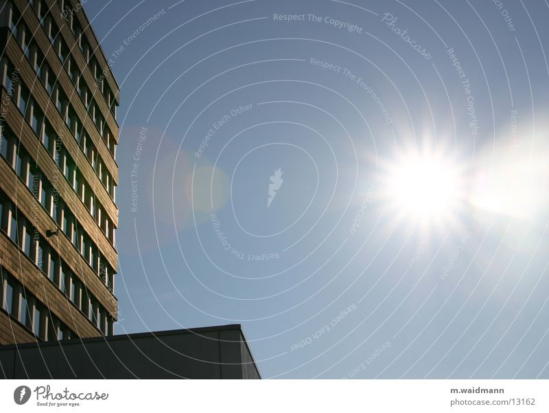 Sky Sun Blue City Window Architecture High-rise City hall
