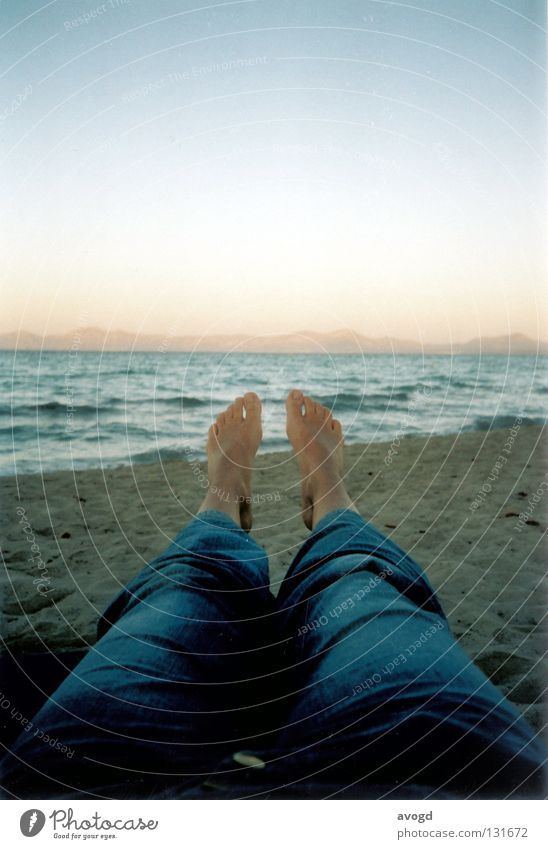 Water Sky Sun Ocean Summer Beach Feet Sand Legs Waves Skin Horizon Jeans Pants Toes Majorca