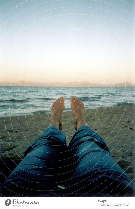Water Sky Sun Ocean Summer Beach Feet Sand Legs Waves Skin Horizon Jeans Pants Toes Majorca