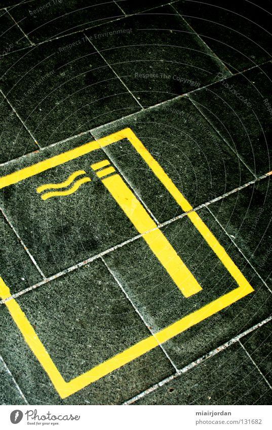 Black Yellow Colour Line Smoking Train station