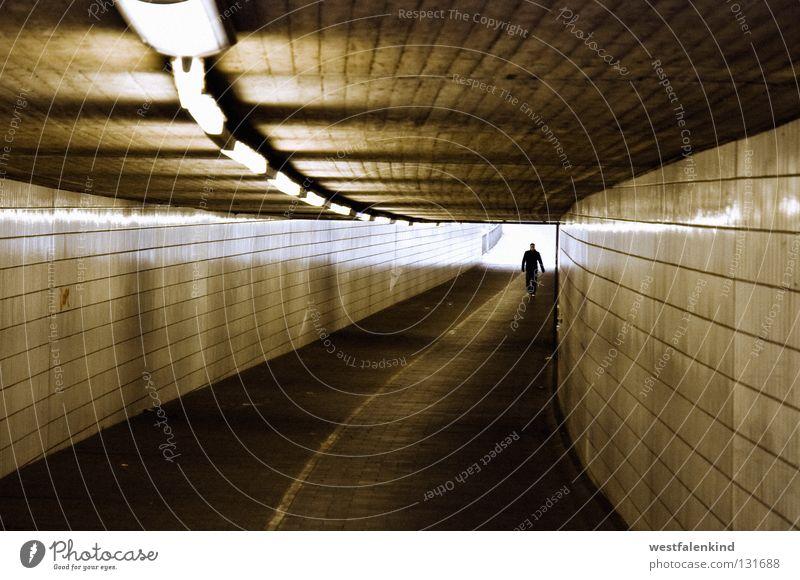 From the light Dark Pedestrian Light Monochrome Gütersloh Fear Landmark Monument Underpass Bright Lanes & trails