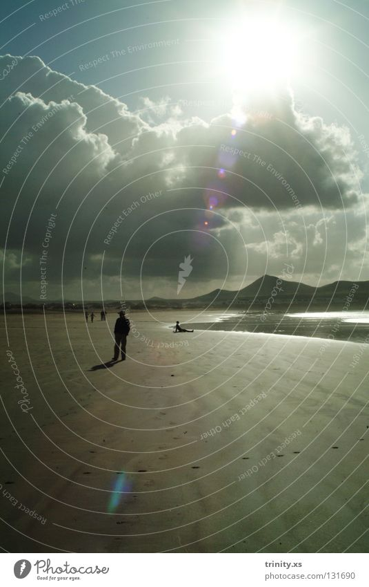 Human being Man Water Beautiful Sky Sun Ocean Blue Beach House (Residential Structure) Clouds Mountain Dream Sand Landscape Waves