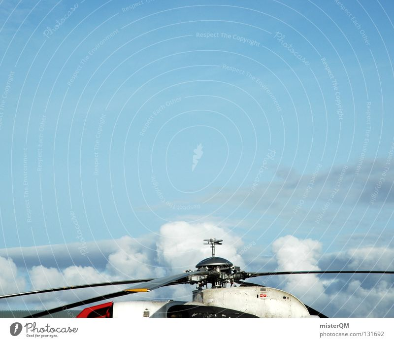 White Red Clouds Art Tall Aviation Technology Airport Machinery Upward Rescue Rescue Helicopter Propeller Runway