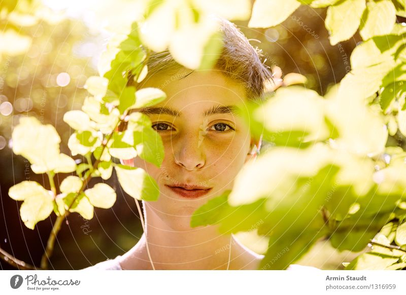 Human being Nature Youth (Young adults) Beautiful Summer Tree Young man Leaf Joy Life Spring Emotions Style Healthy Happy Lifestyle
