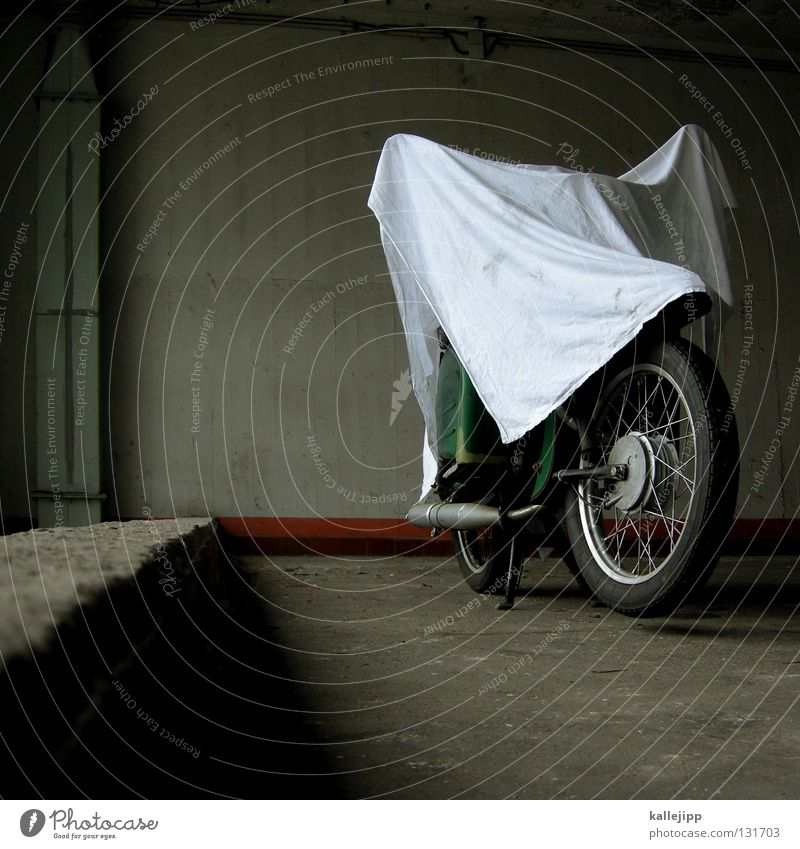 the little ghost Motorcycle Scooter Swallow Parking lot Elephant Ghosts & Spectres  Witching hour Cape Cloth Covers (Construction) Folds Design Silhouette