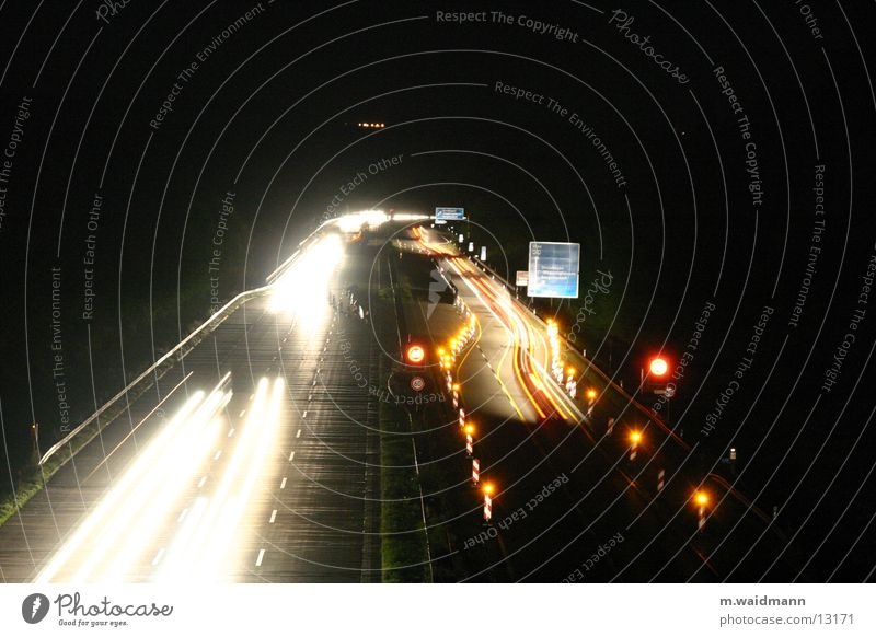 Street Lamp Dark Car Signs and labeling Transport Construction site Truck Highway Exposure