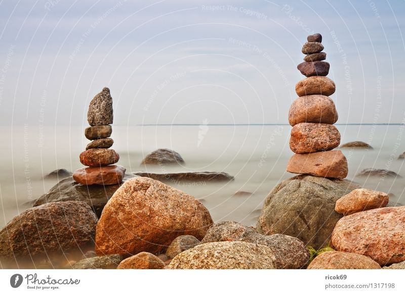 spires Relaxation Vacation & Travel Beach Nature Landscape Water Clouds Rock Coast Baltic Sea Ocean Tower Stone Romance Idyll Calm Tourism Target Baltic coast