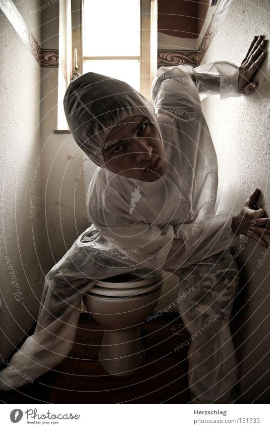 White Joy Crazy Toilet Suit Row Testing & Control Spider