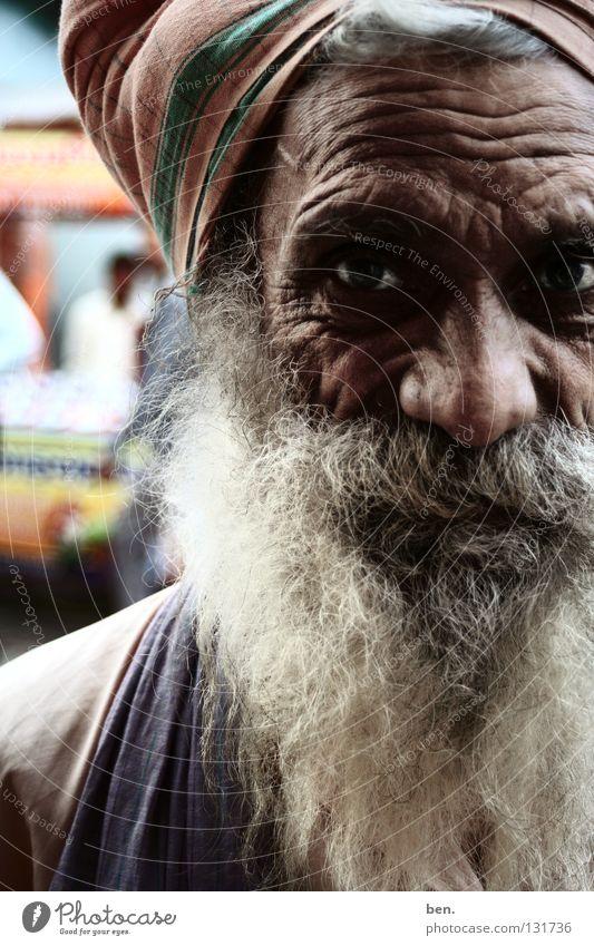 Man Senior citizen Facial hair Wrinkles India Human being Turban Rishikesh