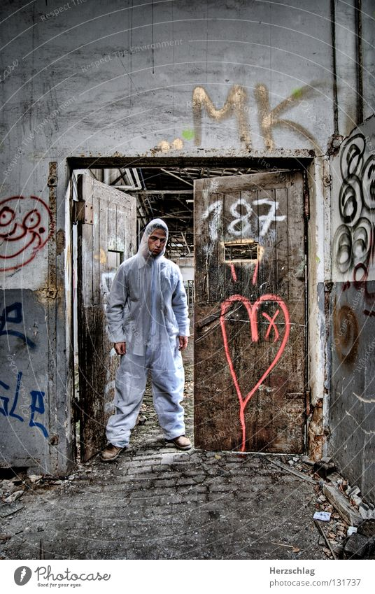 White Dark Heart Dirty Door Search Posture Digits and numbers Trash Tracks Derelict Suit Testing & Control Blood Genetics Attempt