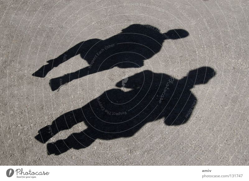 shadow play Jump Short exposure Youth (Young adults) Joy Shadow Human being Crouching Calm in midair Flying Freedom