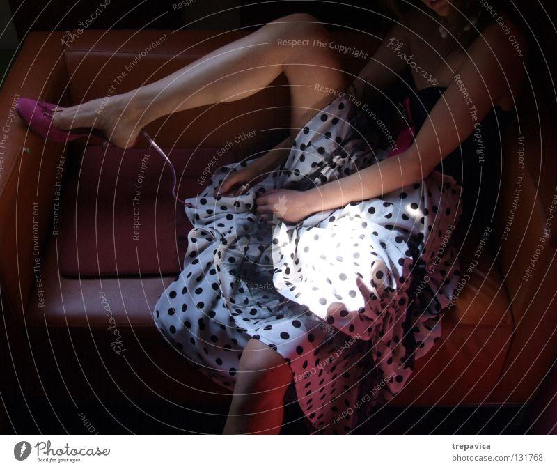 Woman Human being Beautiful Loneliness Colour Feminine Dark Style Legs Fashion Footwear Arm Pink Skin Posture Dress