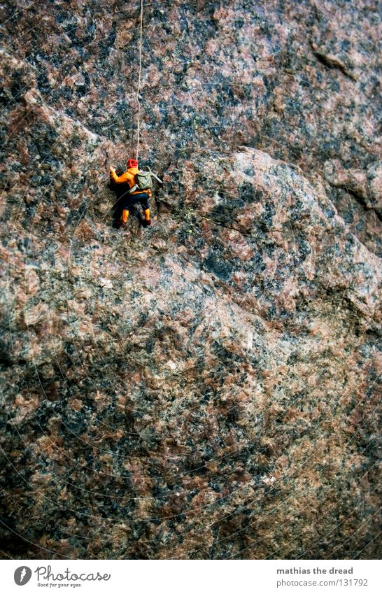 Man Nature Blue Loneliness Sports Dark Playing Mountain Stone Large Rope Rock Tall Dangerous Threat Direction