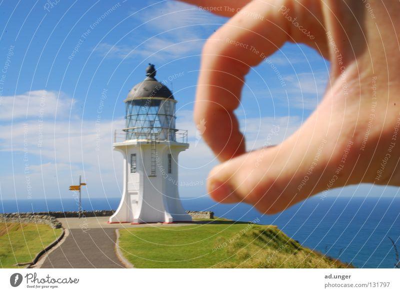 Gone, you! Cape New Zealand Coast Navigation lighthouse cape reinga Tasman Sea Pacific Sea chess