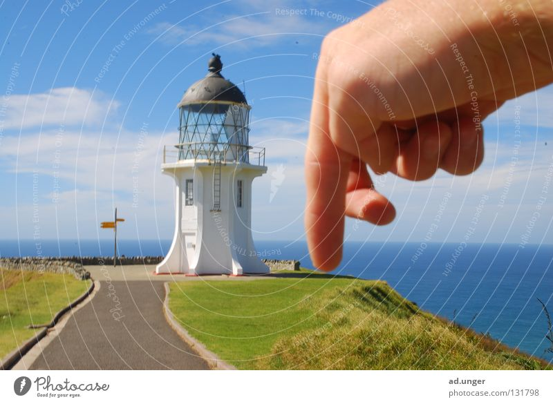 Push D6! Cape New Zealand Coast lighthouse cape reinga Tasman Sea Pacific Sea chess. C6