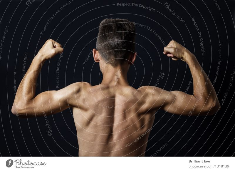 muscle show Lifestyle Body Athletic Fitness Sports Sports Training Human being Masculine Back 1 Esthetic Healthy Self-confident Power Brave Effort Contentment