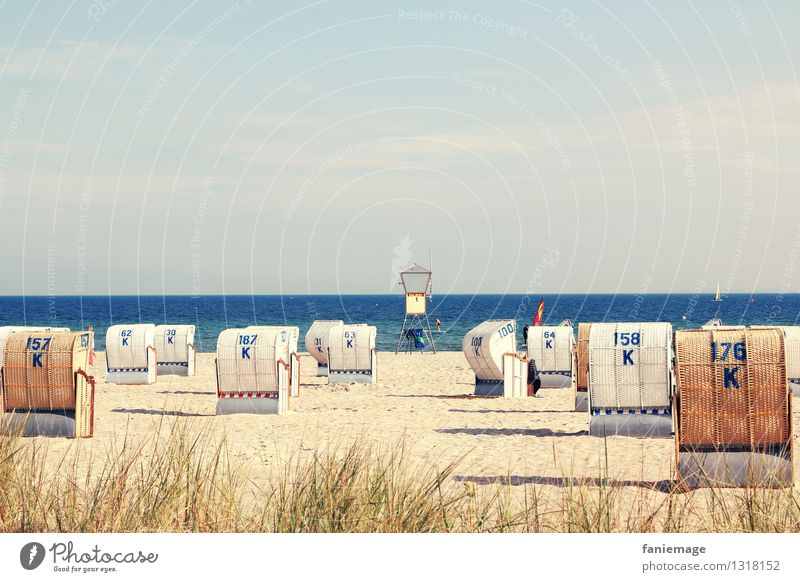 Sky Nature Vacation & Travel Blue Summer Water Relaxation Ocean Landscape Beach Coast Germany Sand Horizon Tourism Idyll