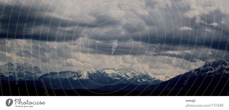Sky White Blue Winter Black Clouds Dark Snow Mountain Gray Rain Field Large Horizon Dangerous Vantage point