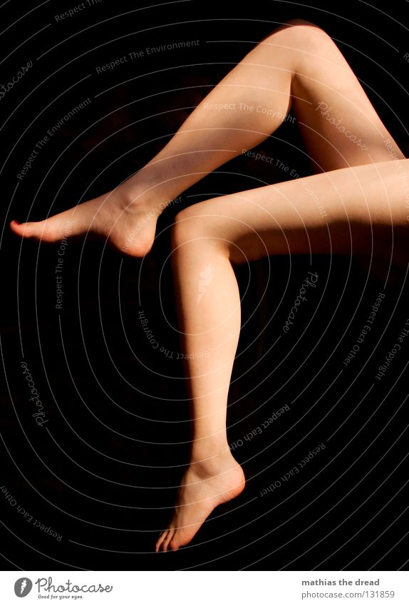 Woman Beautiful Red Eroticism Feminine Naked Feet Legs 2 Skin Elegant Corner Nude photography Thin Stripe Fantastic