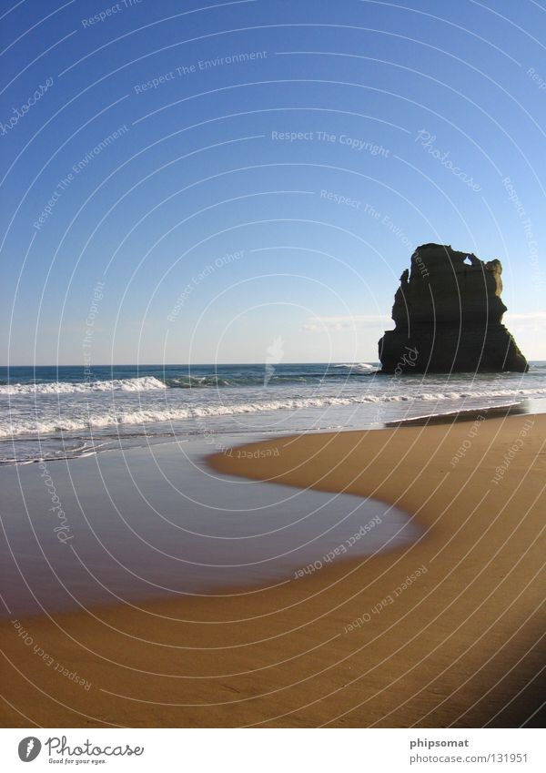 One Apostle Great Ocean Road Beach Melbourne Australia Blue sky Relaxation ocean water 12 apostles Sky Rock Tasman Sea