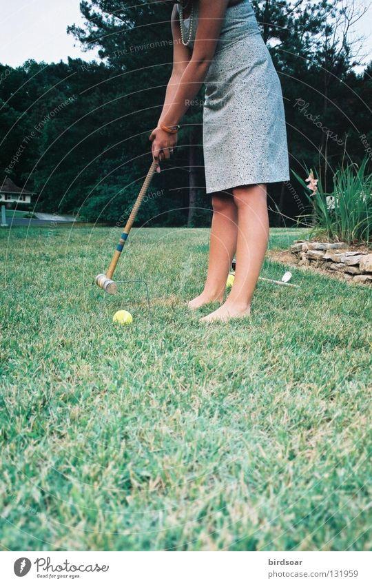 Grass Clothing Film industry Dress Concentrate Dusk Neighborhood Tennis ball Croquet