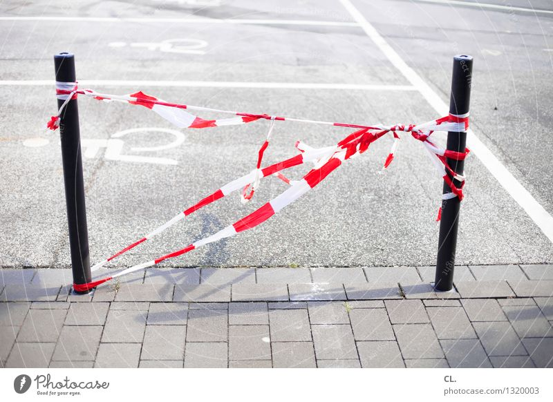 White Red Street Lanes & trails Transport Barrier Traffic infrastructure Parking lot Road traffic Bollard