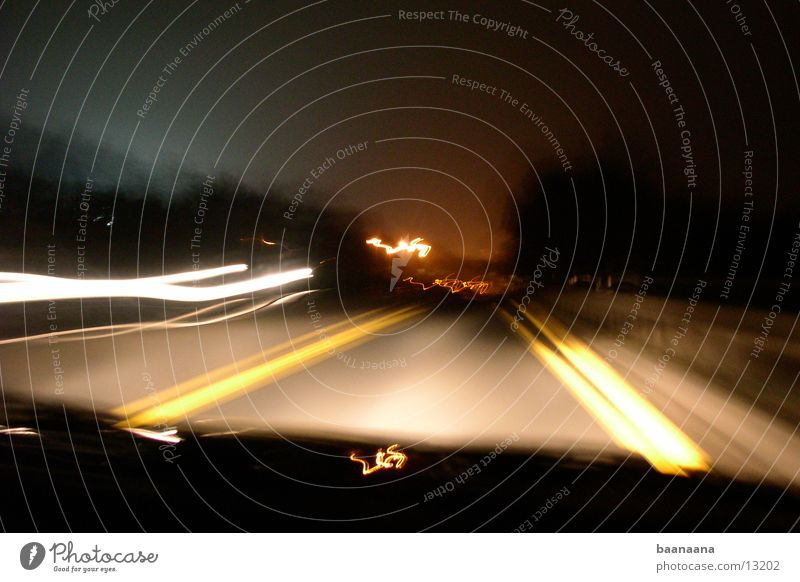 nightshot Highway Speed Night Long exposure fast driving