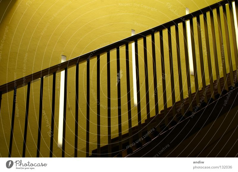 Green Yellow Colour Architecture Europe Interior design Trade fair Upward Ladder Handrail Austria Museum Visual spectacle Exhibition Rhythm