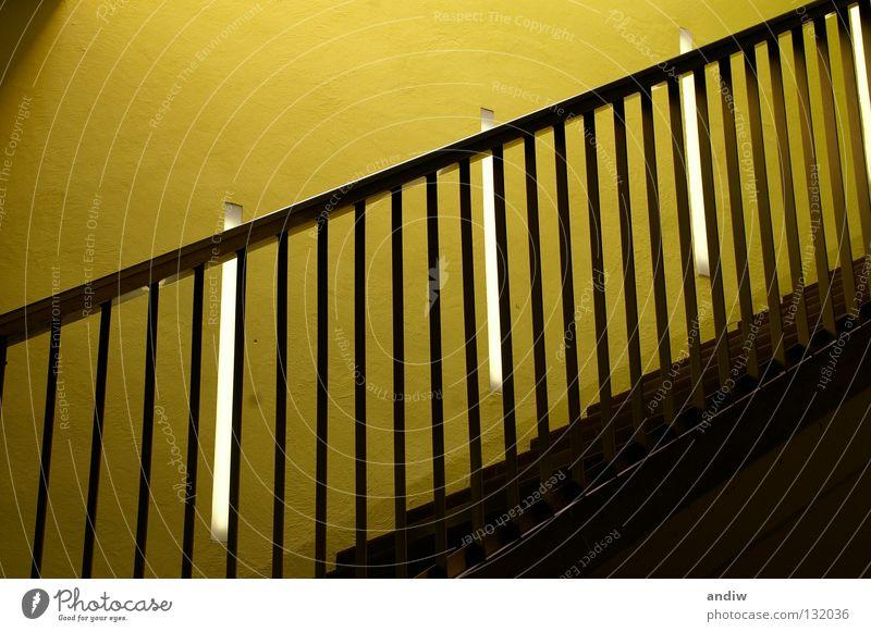 rhythm Yellow Green Rhythm Interior design Visual spectacle Austria Europe Wachau Meeting point Architecture Exhibition Trade fair Ladder Handrail Colour Upward