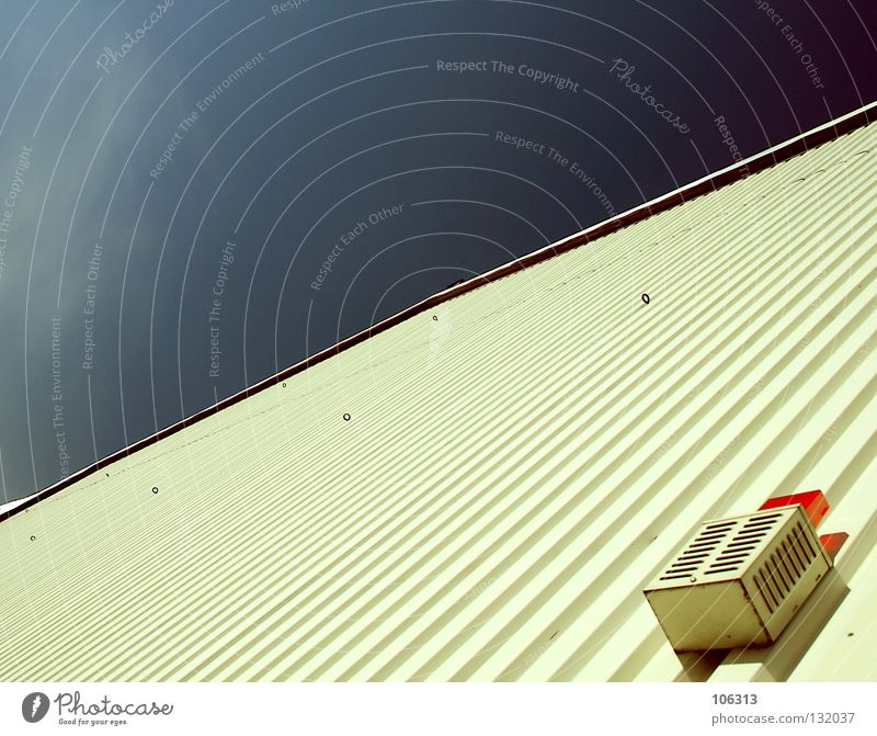 Sky Red House (Residential Structure) Lamp Wall (building) Wall (barrier) Room Empty Perspective Safety Corner Technology Round Mask Things Warning label