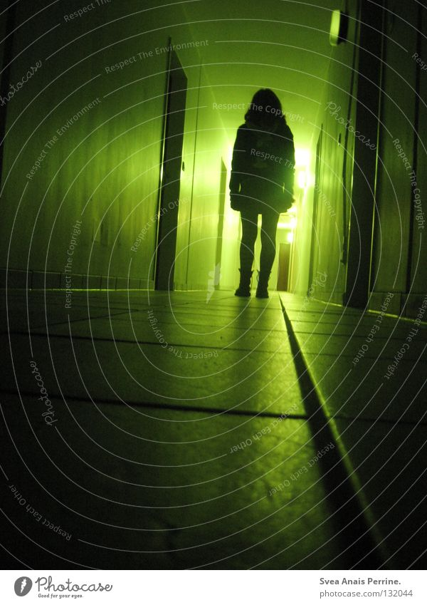 Woman Green Black House (Residential Structure) Loneliness Life Feminine Death Fear Wait Flat (apartment) Going Door Dangerous Film industry Stand