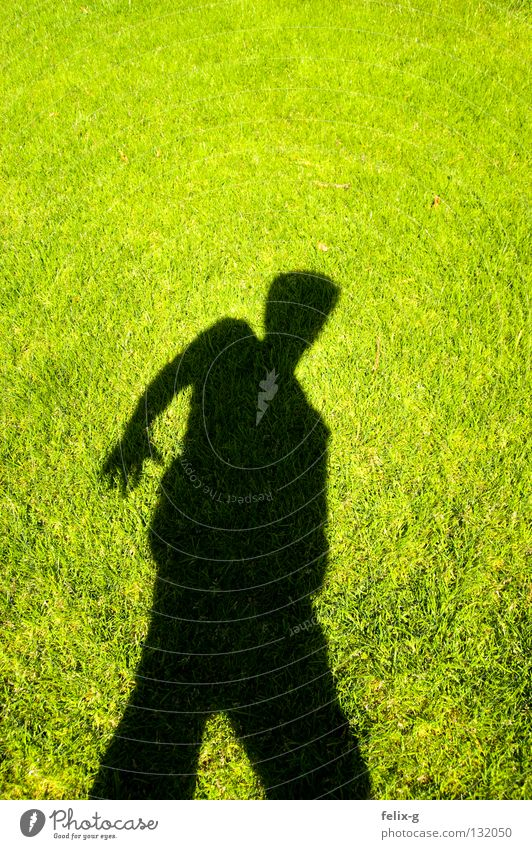 Lawn man #1 Grass Hand Drop shadow Light Green Bright green Shadow Human being Legs Sun Contrast